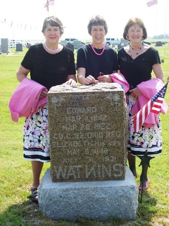 Broadie Sisters at Watkins grave